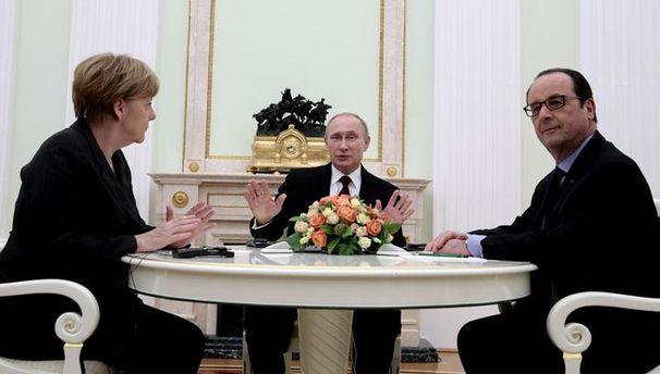Путін, Оланд та Меркель