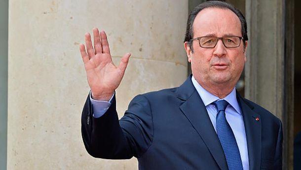 Франсуа Олланд поздравил Украину