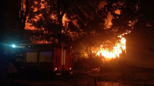 Пожар произошел на улице Федьковича