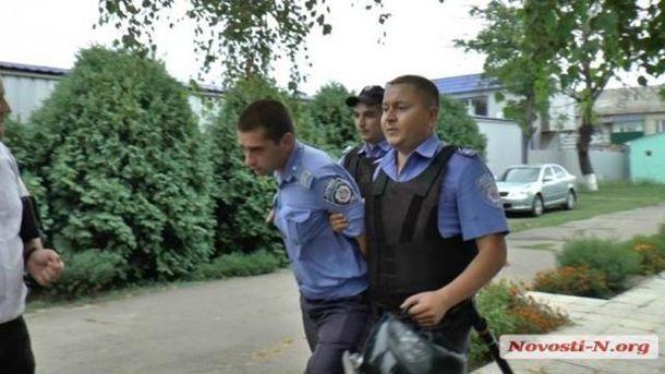Затримання поліцейських у Кривому Озері