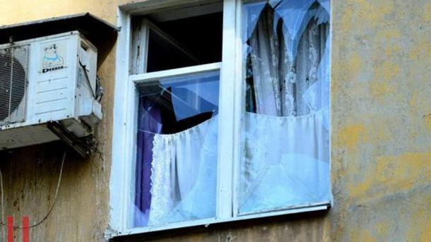 Наслідки потужного вибуху в Донецьку