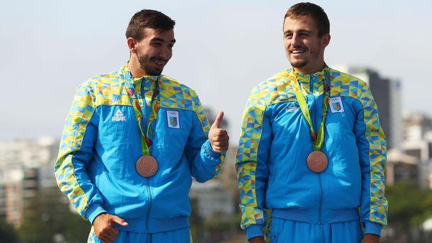 Бронзовые призеры Дмитрий Янчук и Тарас Мищук