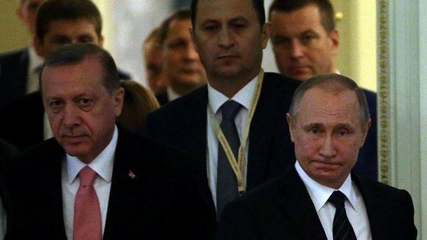 Раджеп Ердоган і Володимир Путін