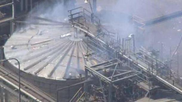 Цистерна, що вибухнула на нафтопереробному заводі