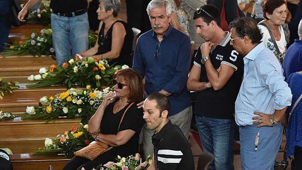 Прощання з жертвами землетрусу в Італії