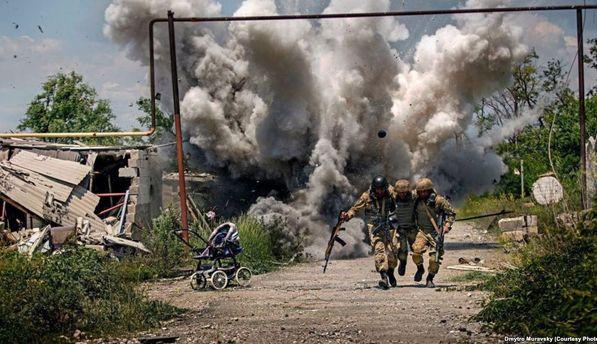 Українські військові на передовій