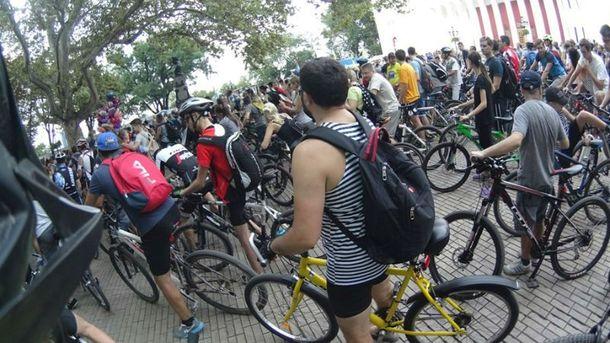 Протест велосипедистів в Одесі