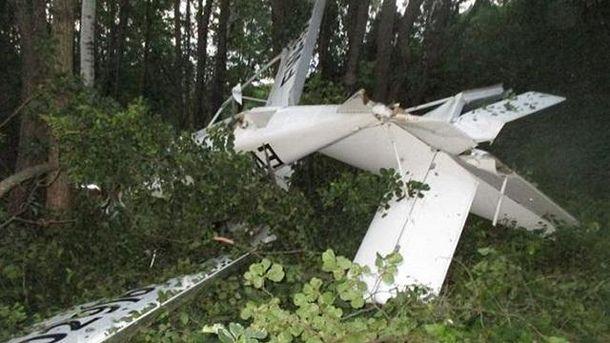 Разбился легкомоторный самолет