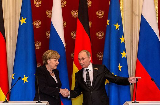 Ангела Меркель та Володимир Путін