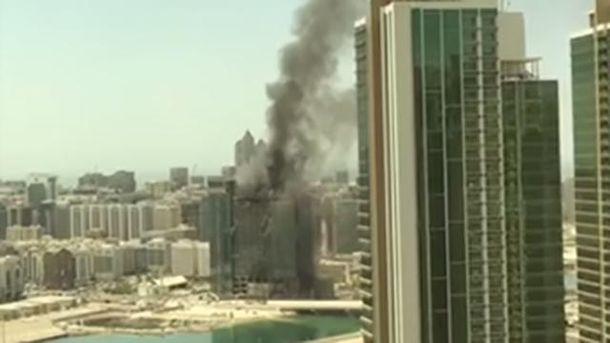Небоскреб загорелся в ОАЭ
