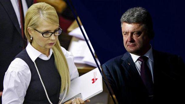 Юлія Тимошенко і Петро Порошенко