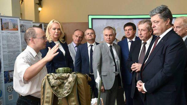 Петр Порошенко посетил университет