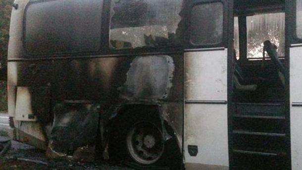 Загорівся рейсовий автобус Калуш-Київ