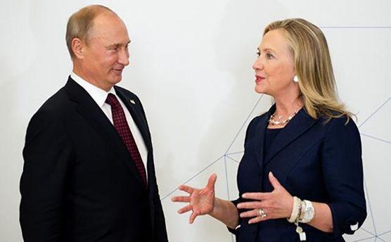 Володимир Путін і Хілларі Клінтон