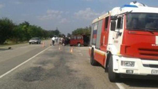 Место аварии возле села Рощино