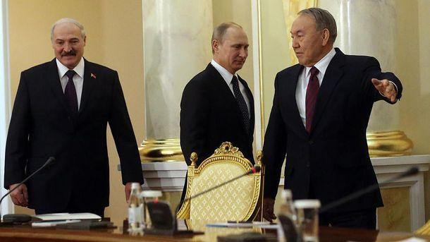 Александр Лукашенко, Владимир Путин, Нурсултан Назарбаев
