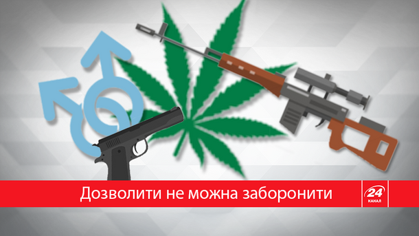 Большинство украинцев выступает против свободной продажи оружия илегализации марихуаны