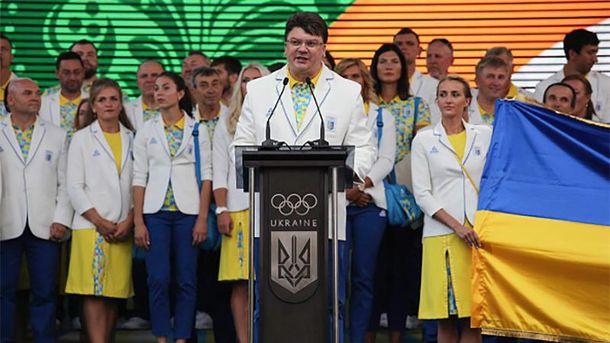 Ігор Жданов разом з олімпійцями