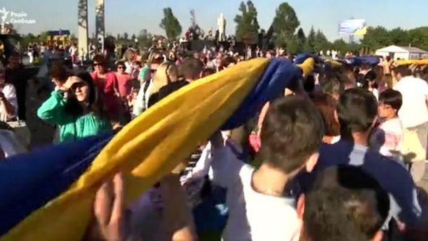 Вперше стяг розгорнули, святкуючи звільнення від окупантів