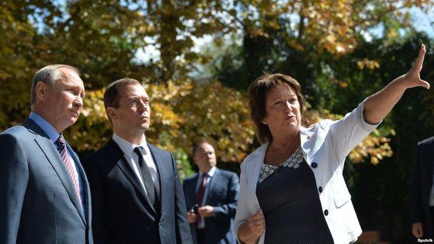 Путин и Медведев в Крыму