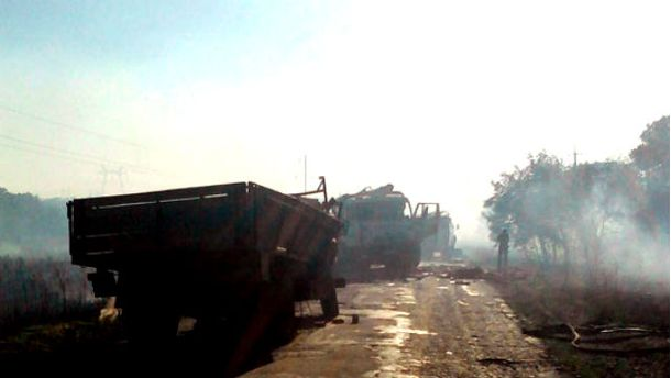 Погиб водитель одного из грузовиков