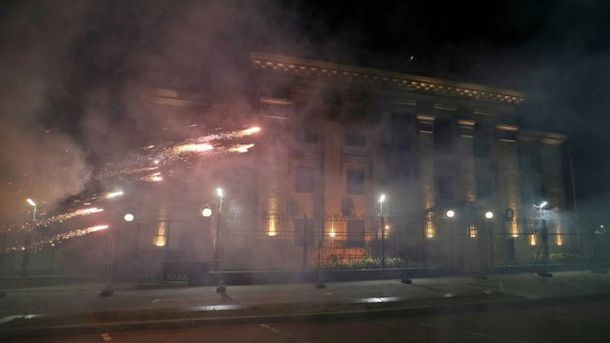 Атака на посольство Росії у Києві