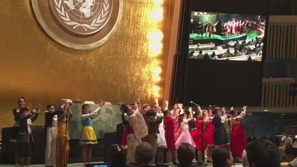 Діти з Південної Кореї заспівали