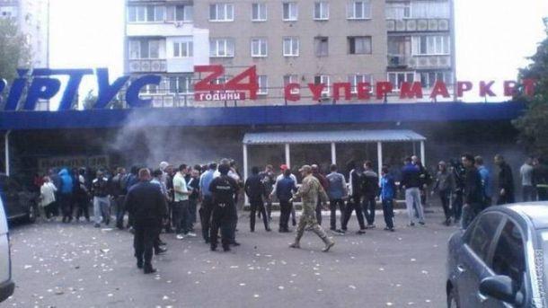 В Черноморске разгромили супермаркет