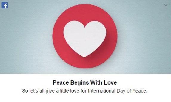 Facebook розчулив привітанням до Дня миру