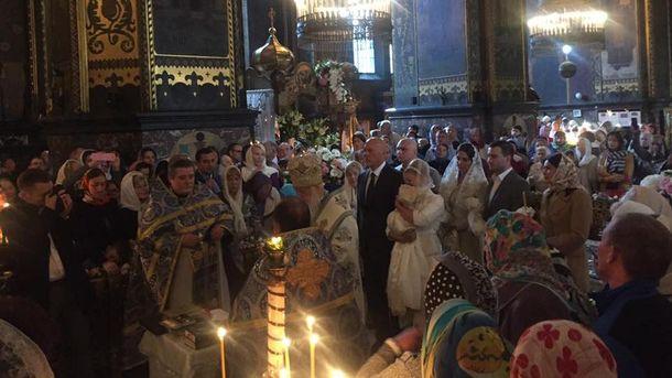 Тимошенко на хрестинах онуки