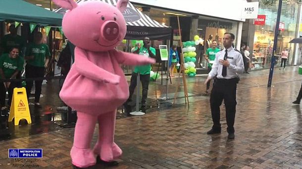 Танцы свинки и полицейского