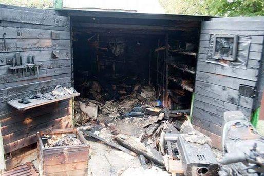 Спалений гараж