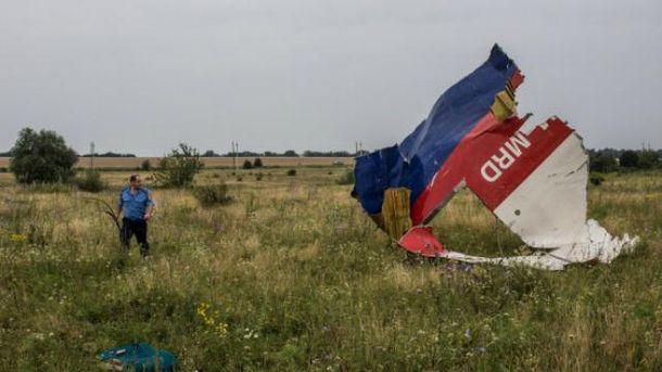 На месте падения МН17