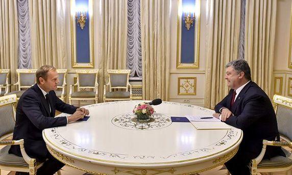 Дональд Туск та Петро Порошенко