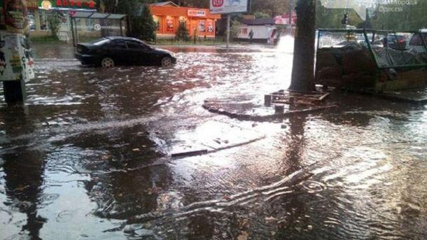 Злива затопила Одесу