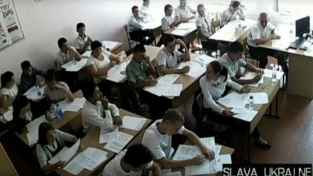 Гімн України пролунав в одній з кримських шкіл