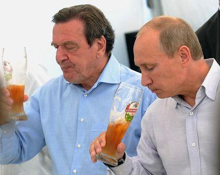 Герхард Шредер і Володимир Путін: