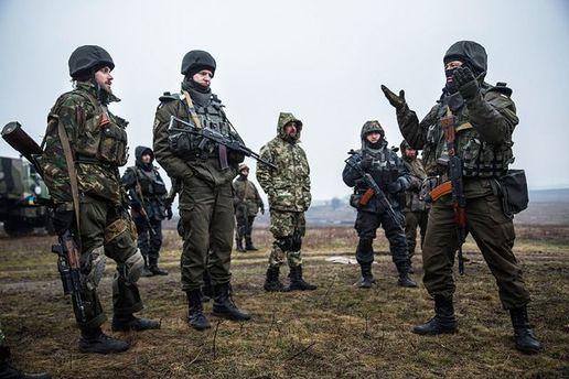 Украинские военные на Донбассе