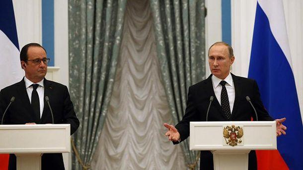 Франсуа Олланд і Володимир Путін