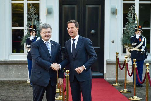 Петро Порошенко та Марк Рютте