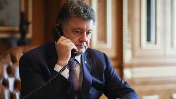 Порошенко поговорил с Байденом