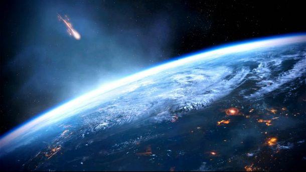 Астероид и Земля