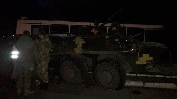 Военные нарушили правила дорожного движения