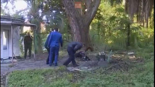 Место взрыва в Абхазии