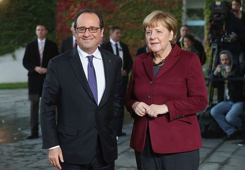 Франсуа Олланд та Ангела Меркель