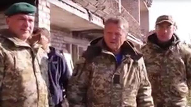 Маркевич потрапив під обстріл уМар'їнці: з'явилося відео