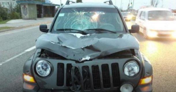 Фото с места автопроисшествия