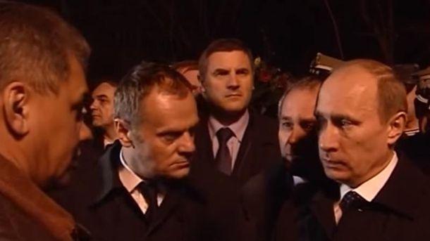 Туск зустрічався з Путіним в день Смоленської катастрофи