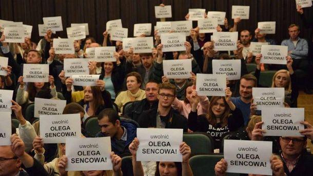 Акцию в поддержку Сенцова устроили в Варшаве