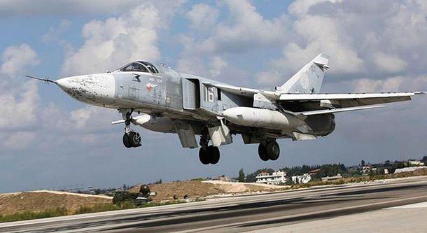 Российский штурмовик в Сирии